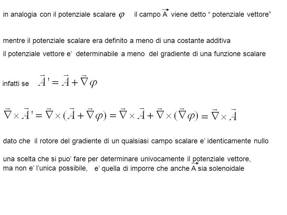 in analogia con il potenziale scalare j