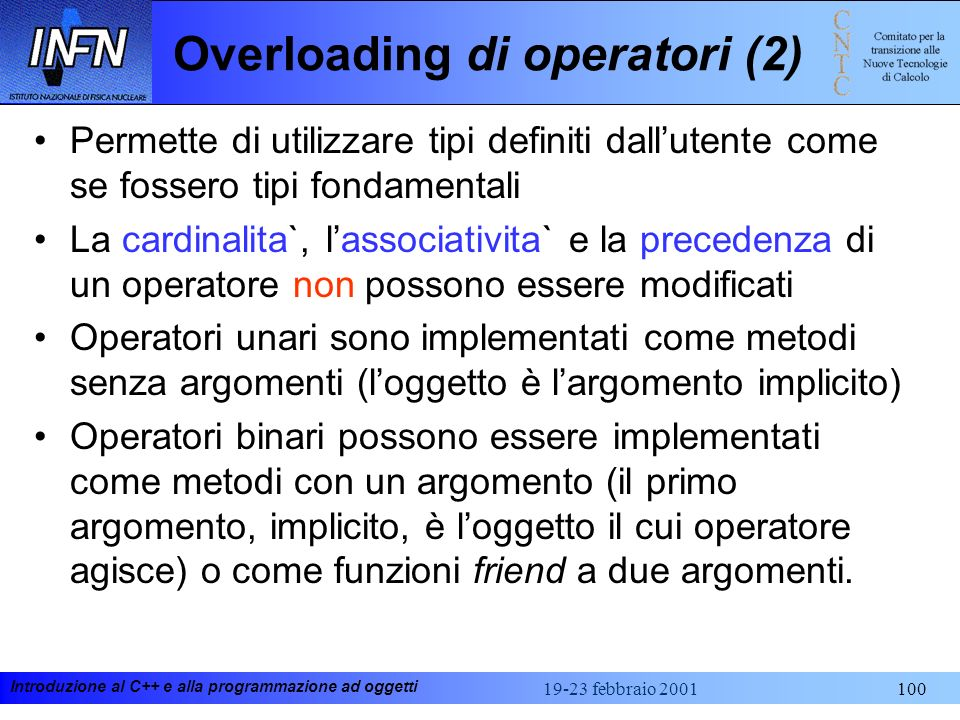 Overloading di operatori (2)
