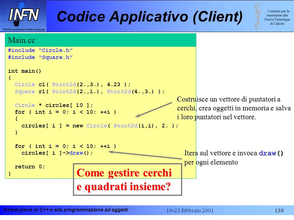Codice Applicativo (Client)
