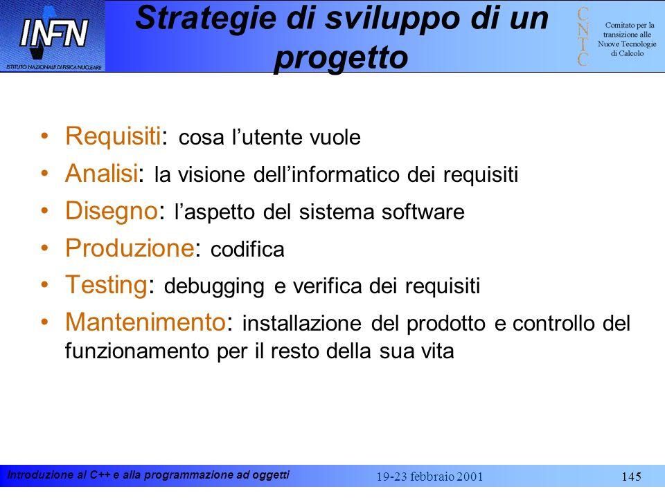 Strategie di sviluppo di un progetto
