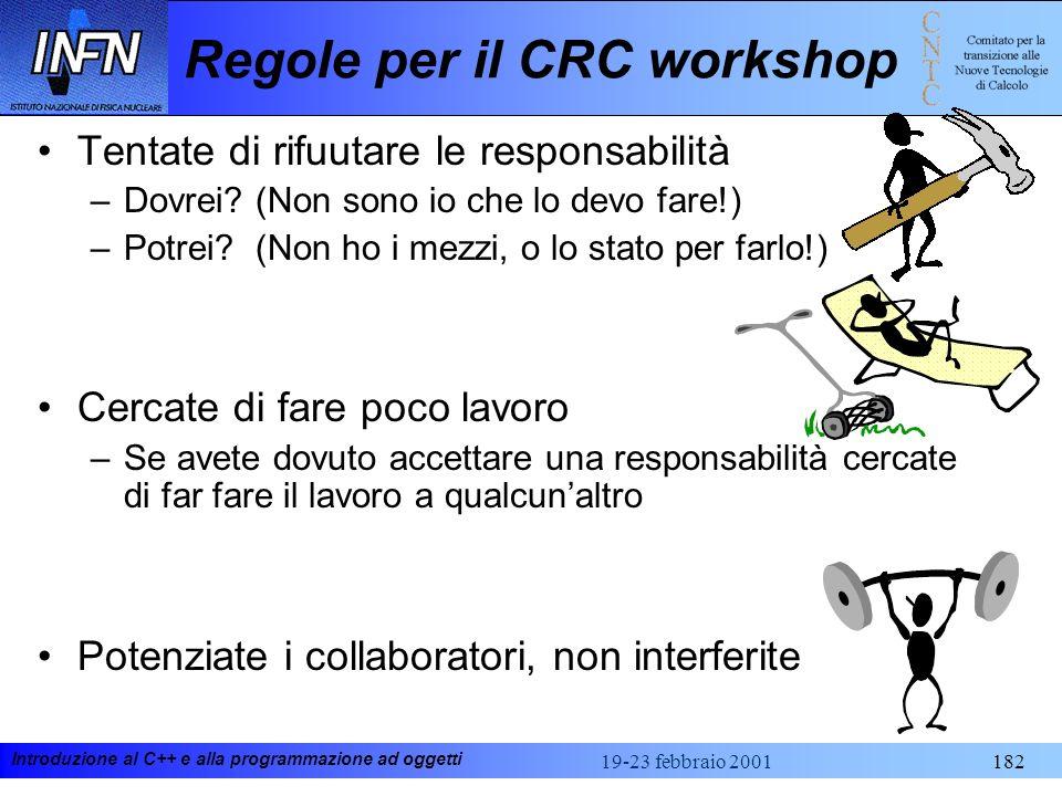 Regole per il CRC workshop