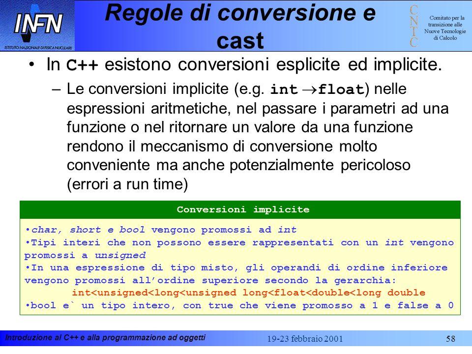 Regole di conversione e cast