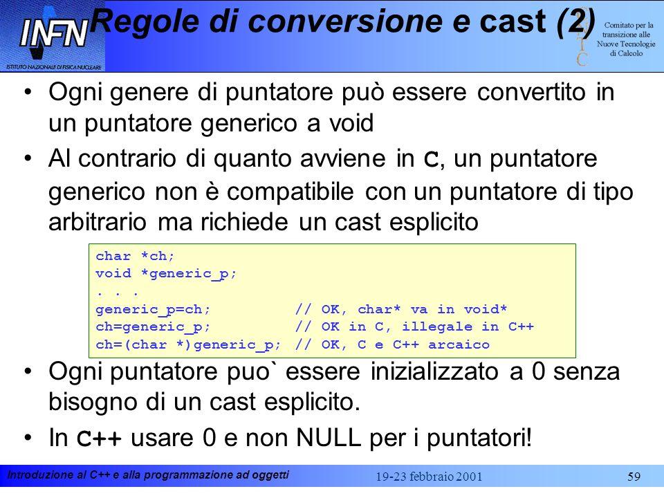 Regole di conversione e cast (2)