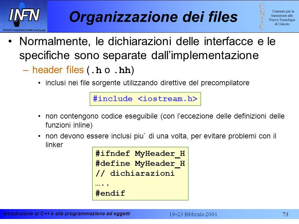 Organizzazione dei files