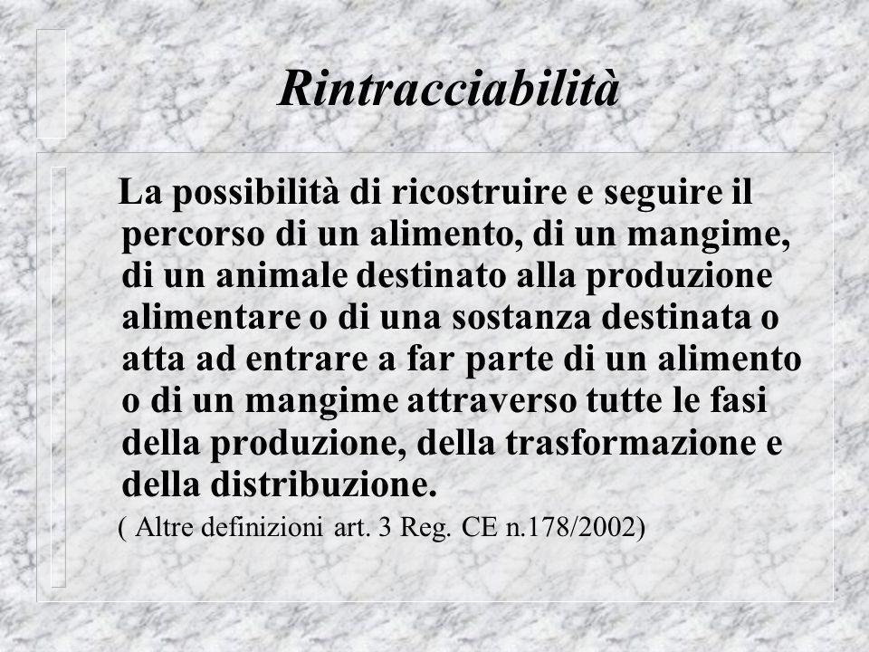Rintracciabilità