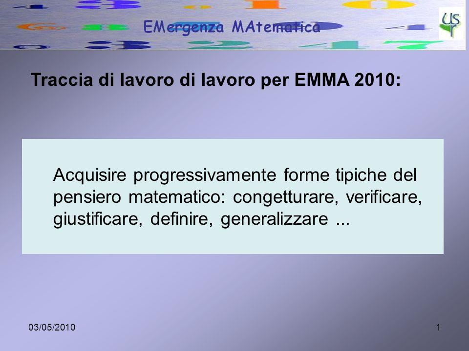 Traccia di lavoro di lavoro per EMMA 2010: