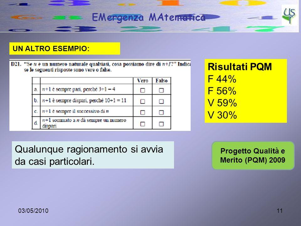 Progetto Qualità e Merito (PQM) 2009