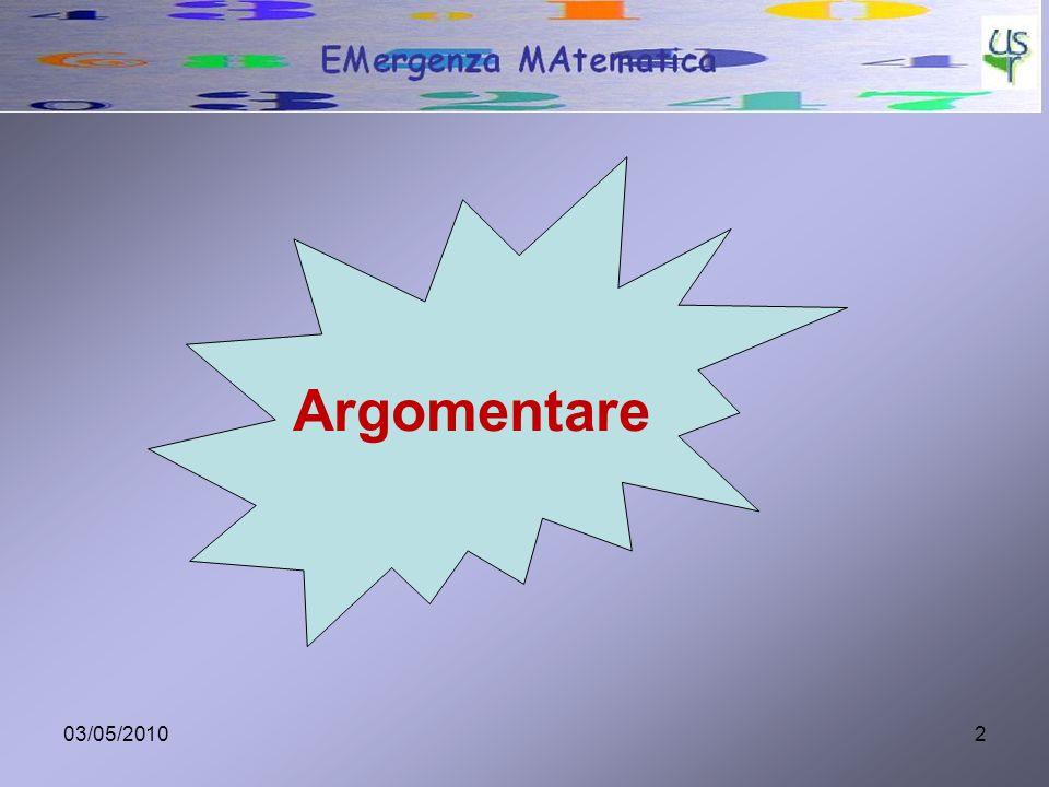 Argomentare 03/05/2010