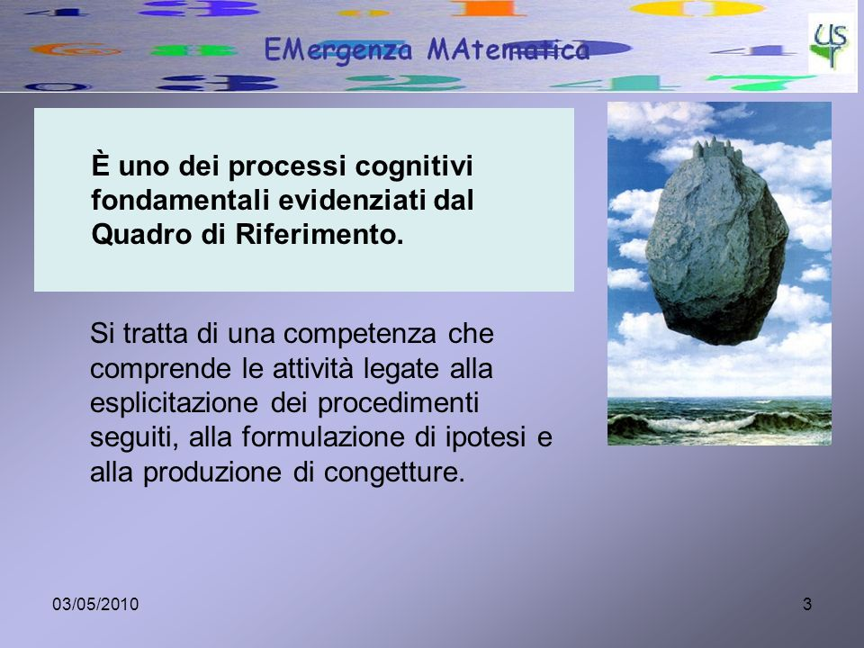 È uno dei processi cognitivi fondamentali evidenziati dal Quadro di Riferimento.