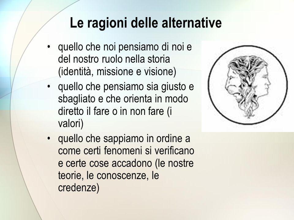 Le ragioni delle alternative