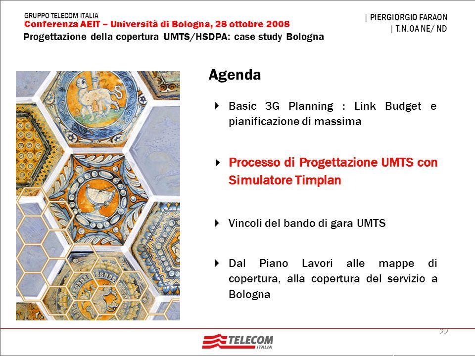 Agenda Processo di Progettazione UMTS con Simulatore Timplan