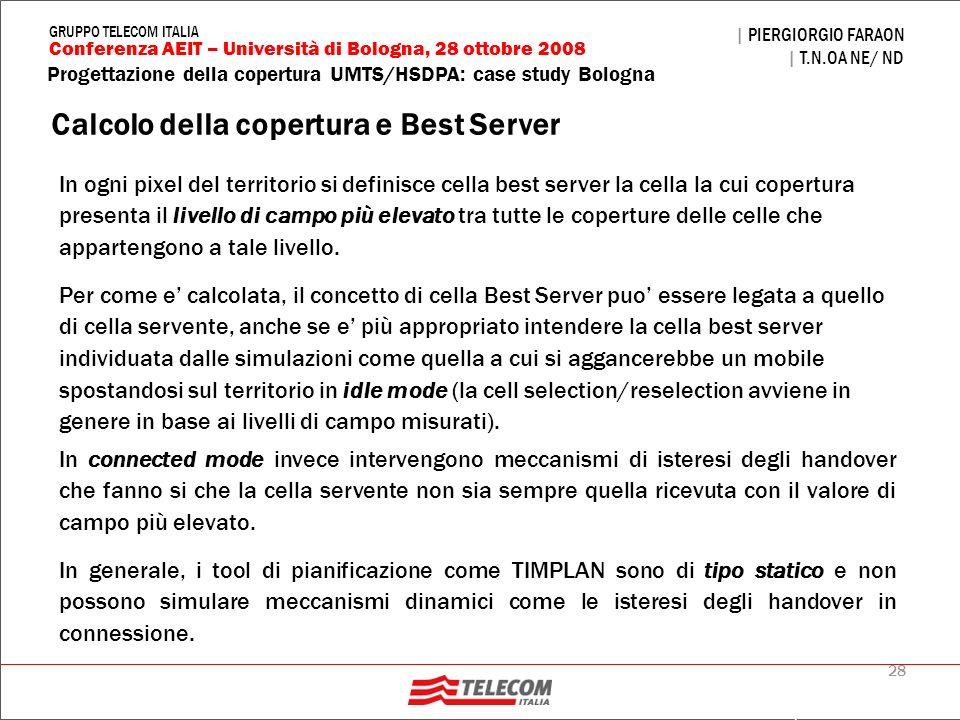 Calcolo della copertura e Best Server