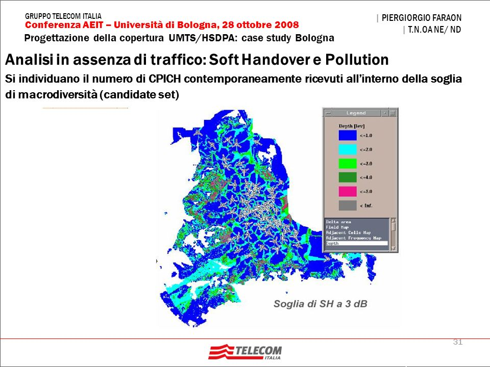 Analisi in assenza di traffico: Soft Handover e Pollution