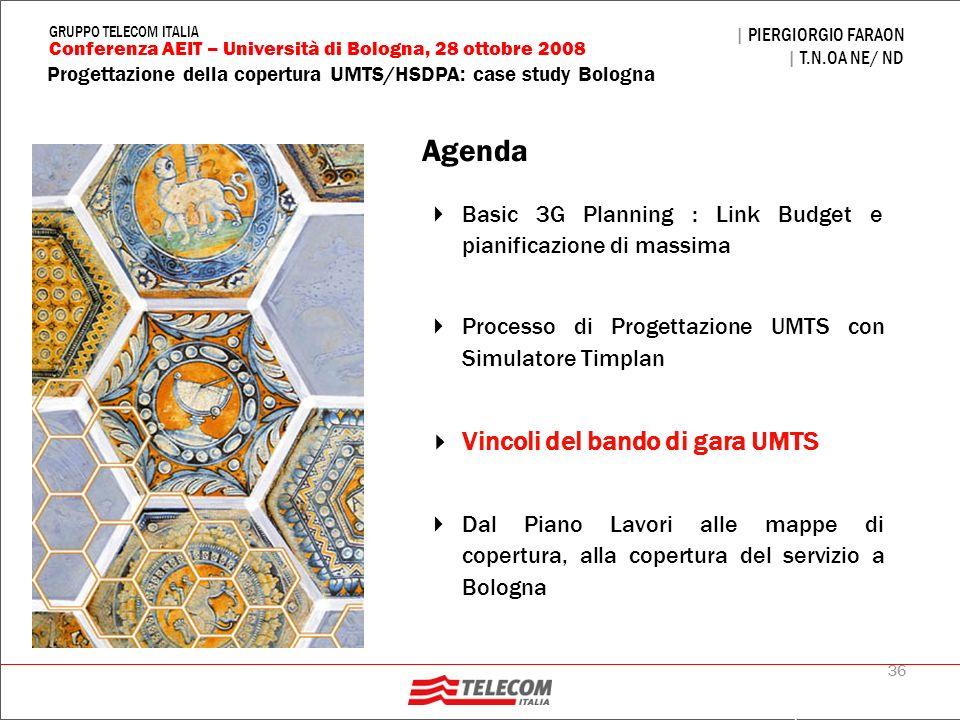 Agenda Vincoli del bando di gara UMTS