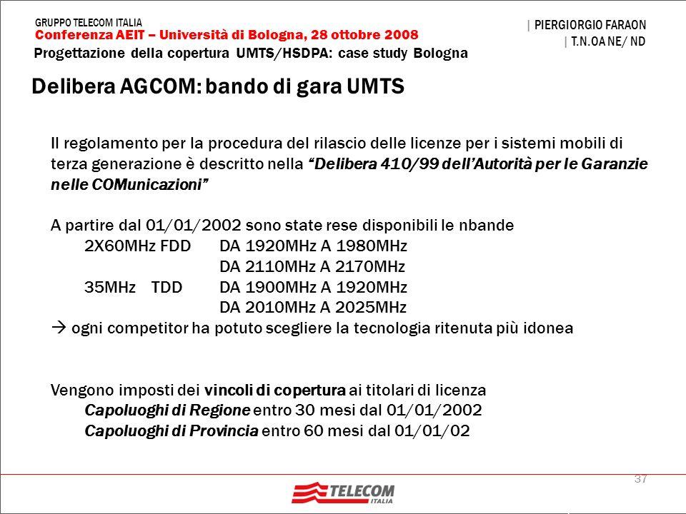 Delibera AGCOM: bando di gara UMTS