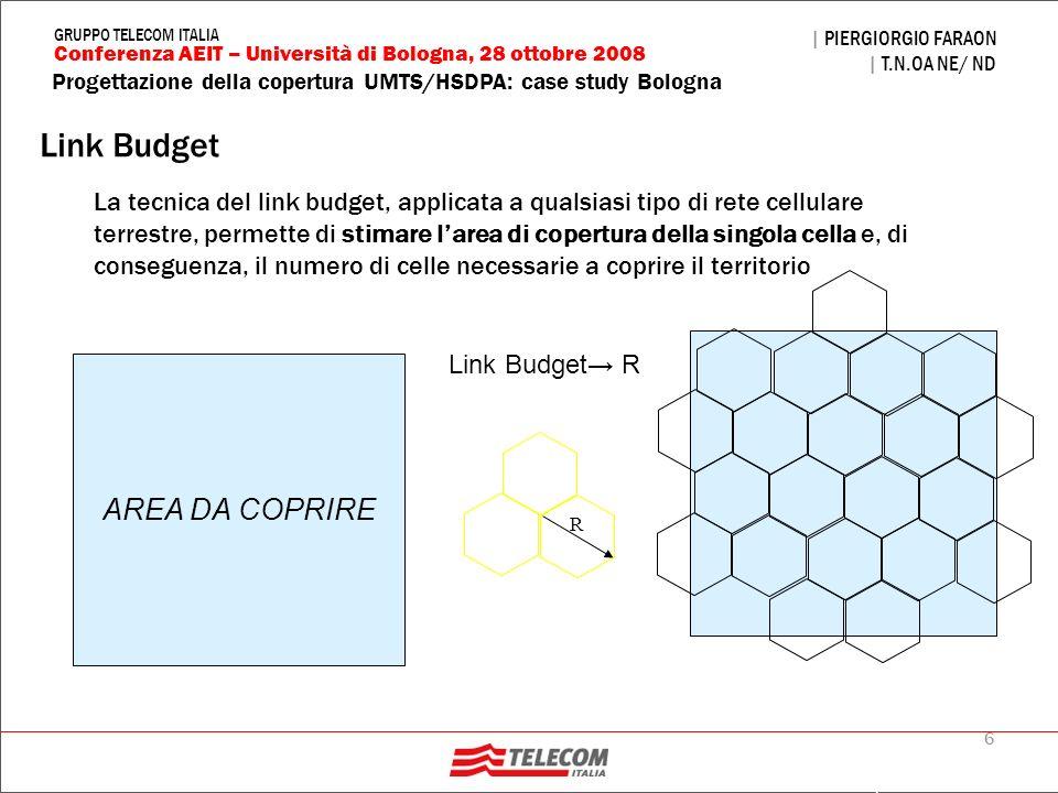 Link Budget AREA DA COPRIRE