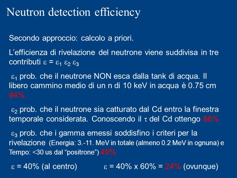 Neutron detection efficiency