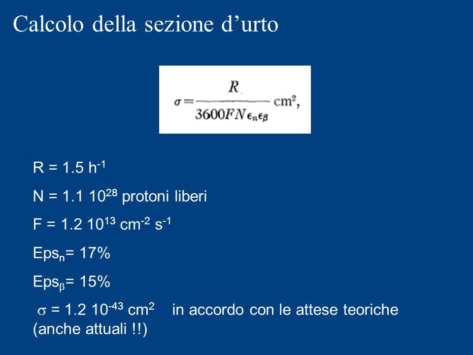 Calcolo della sezione d'urto