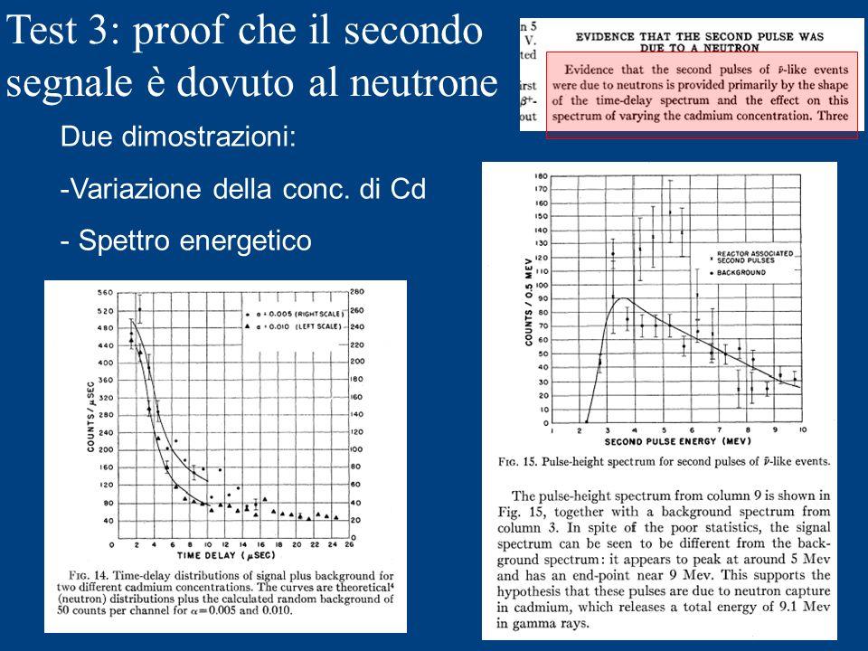 Test 3: proof che il secondo segnale è dovuto al neutrone