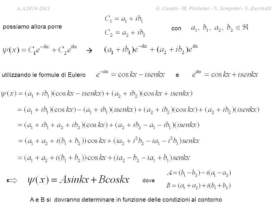  possiamo allora porre con utilizzando le formule di Eulero e