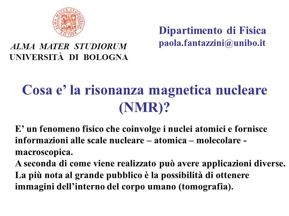 Cosa e' la risonanza magnetica nucleare (NMR)