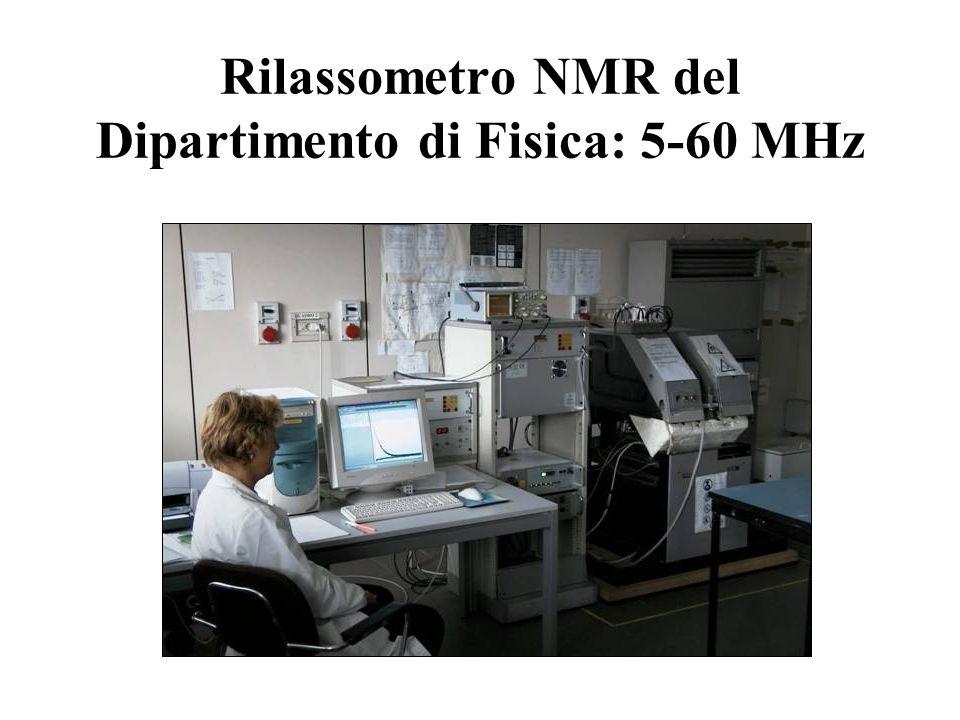 Rilassometro NMR del Dipartimento di Fisica: 5-60 MHz