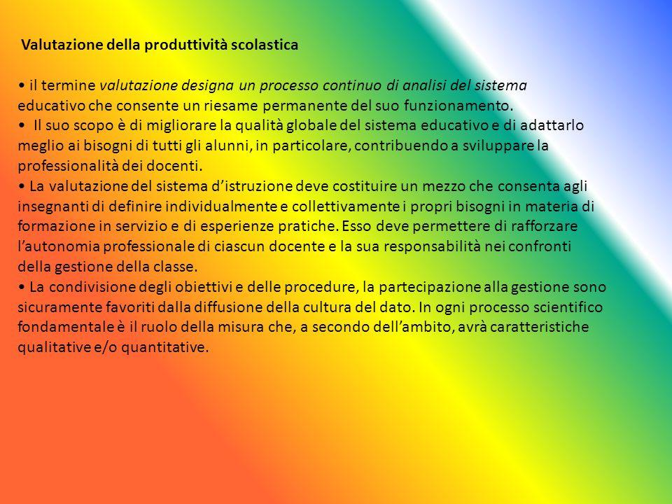 Valutazione della produttività scolastica