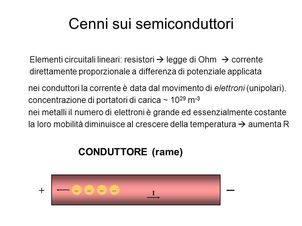 Elementi circuitali lineari: resistori  legge di Ohm  corrente