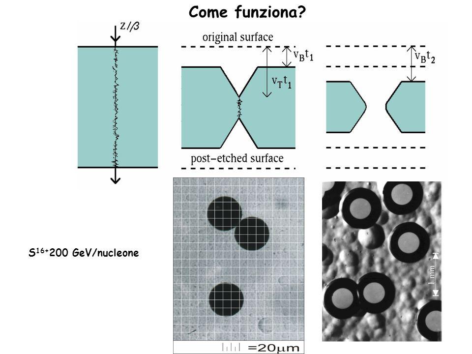 Come funziona S16+200 GeV/nucleone