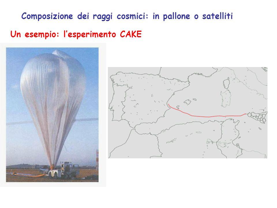 Composizione dei raggi cosmici: in pallone o satelliti