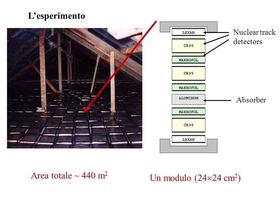 L'esperimento Area totale ~ 440 m2 Un modulo (2424 cm2)