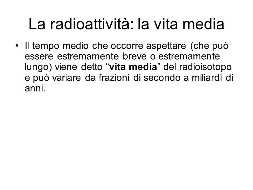 La radioattività: la vita media