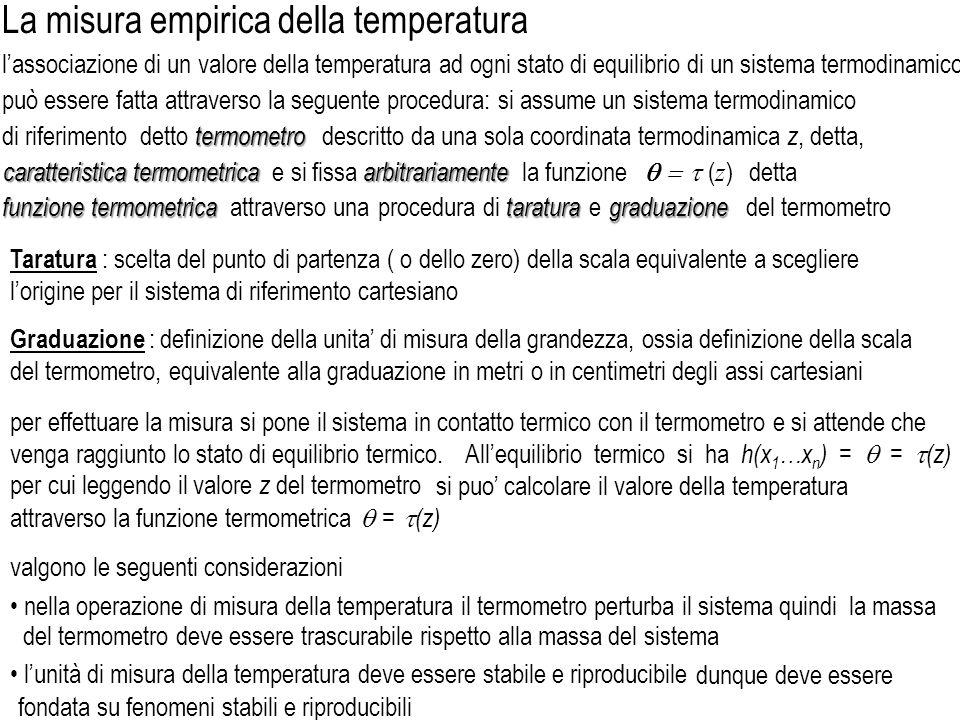La misura empirica della temperatura