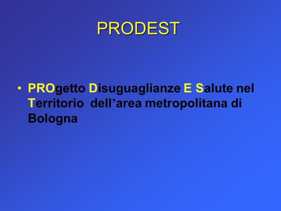 PRODEST PROgetto Disuguaglianze E Salute nel Territorio dell'area metropolitana di Bologna