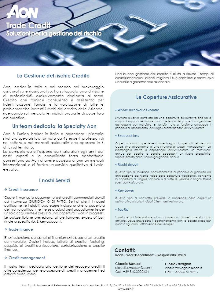 La Gestione del rischio Credito