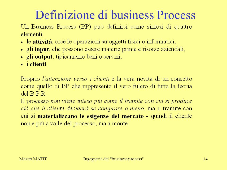Definizione di business Process