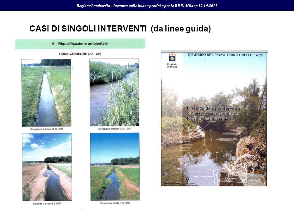 CASI DI SINGOLI INTERVENTI (da linee guida)
