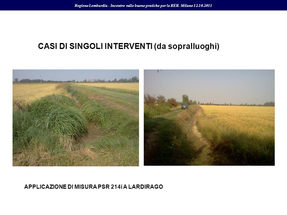 CASI DI SINGOLI INTERVENTI (da sopralluoghi)