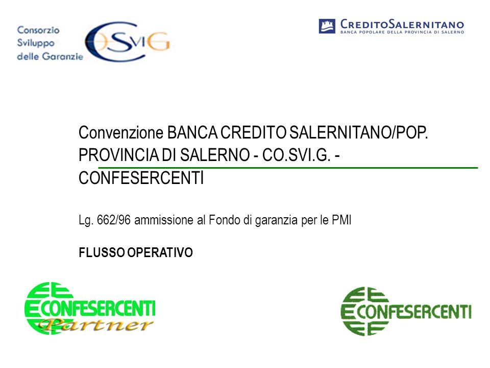 Convenzione BANCA CREDITO SALERNITANO/POP. PROVINCIA DI SALERNO - CO