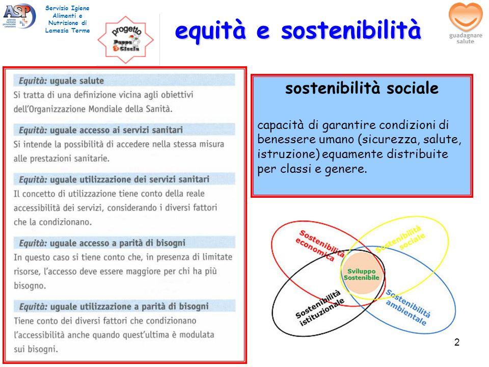 equità e sostenibilità