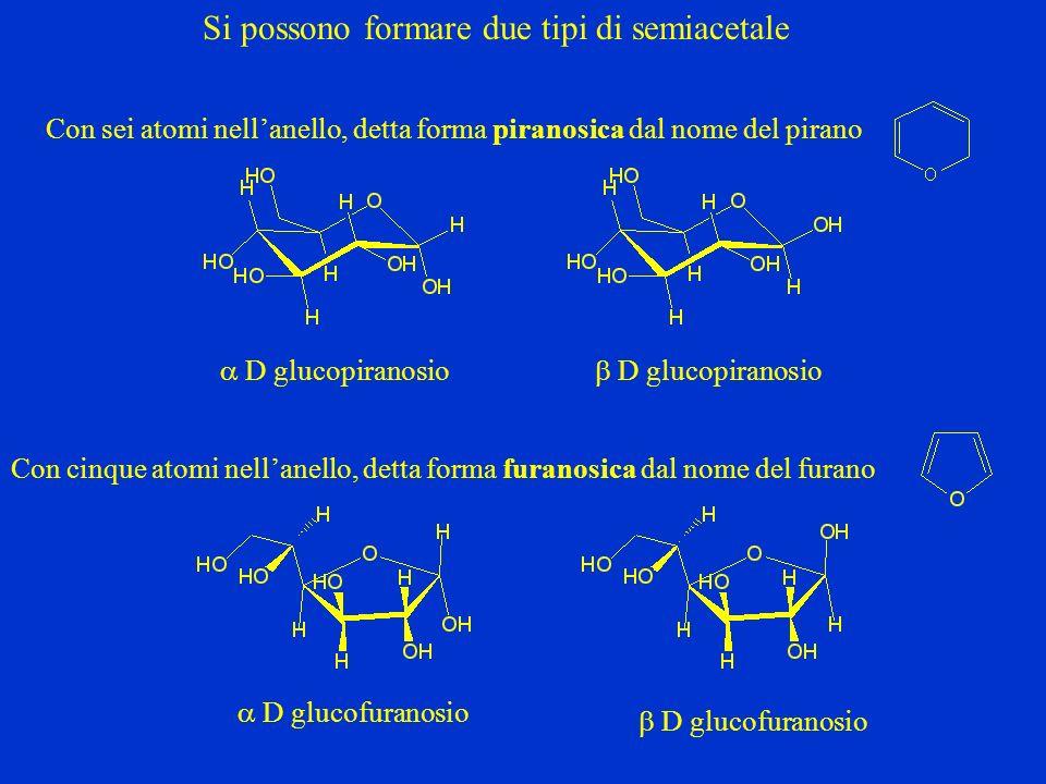 Si possono formare due tipi di semiacetale