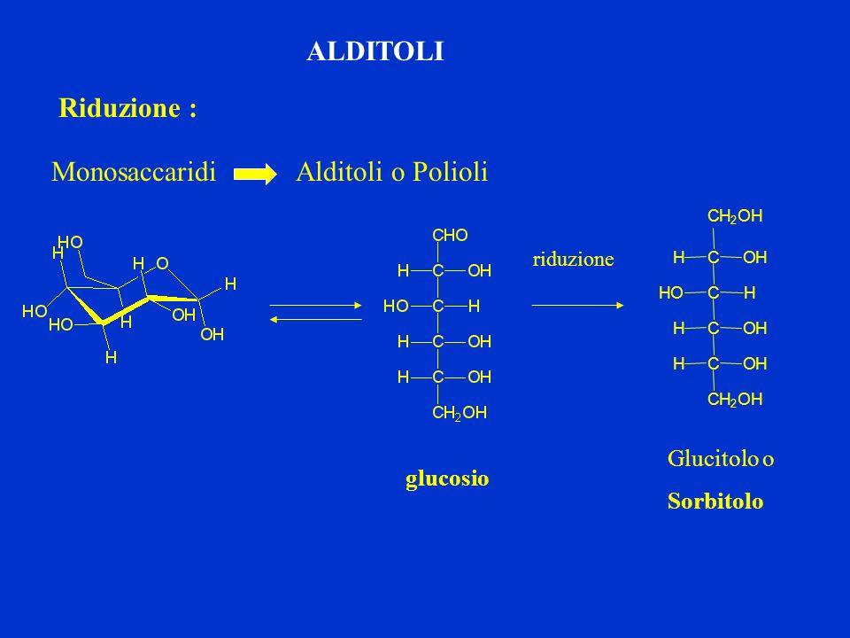 Monosaccaridi Alditoli o Polioli