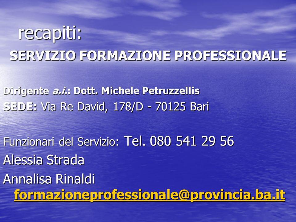 SERVIZIO FORMAZIONE PROFESSIONALE