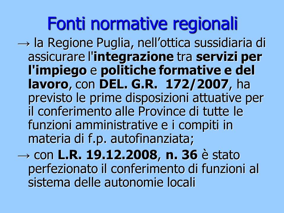Fonti normative regionali