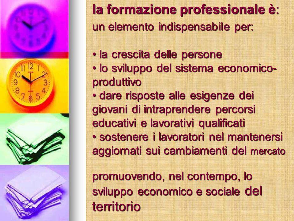 la formazione professionale è: