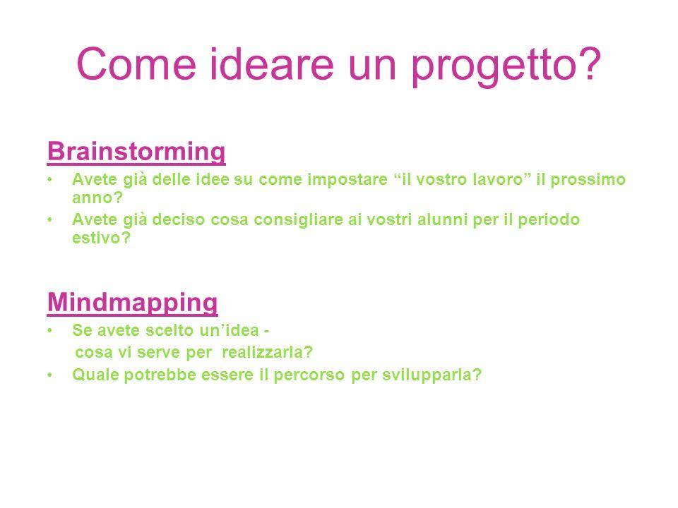 Come ideare un progetto