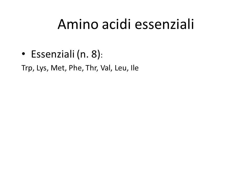 Amino acidi essenziali