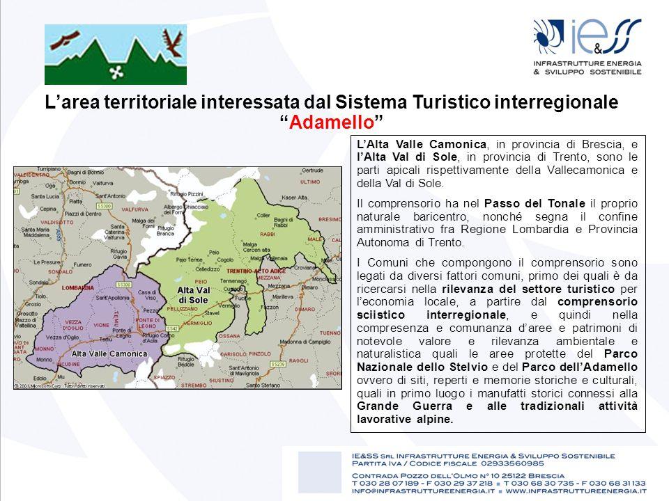 L'area territoriale interessata dal Sistema Turistico interregionale Adamello