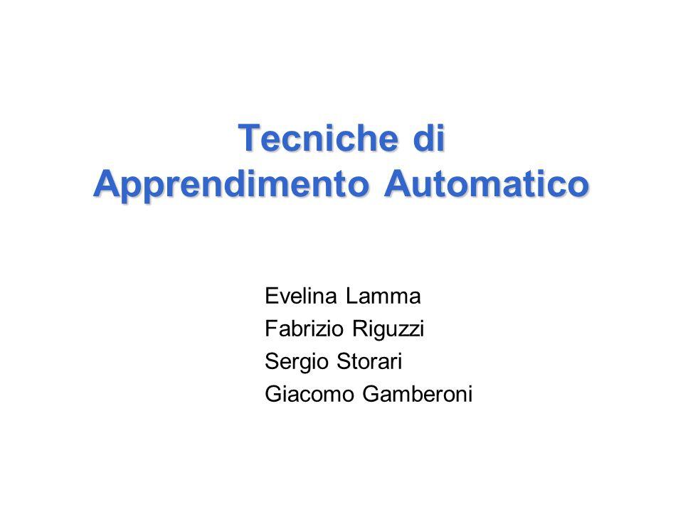Tecniche di Apprendimento Automatico