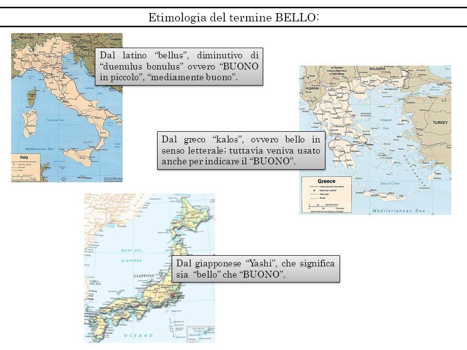 Etimologia del termine BELLO: